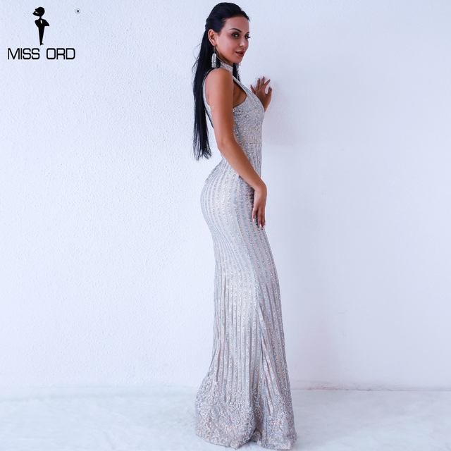 Missord 2019 Sexy Summer o neck sleeveless glitter dress Evening Elegant Party maxi Dresses FT18302 1
