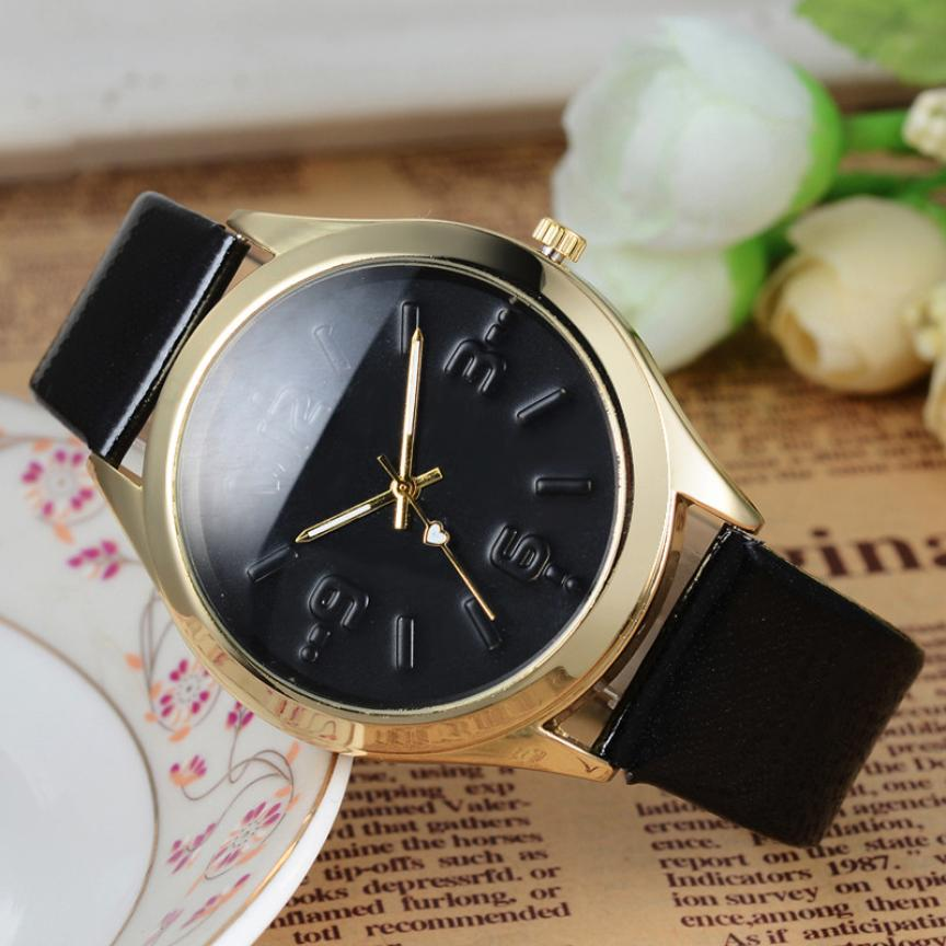 315b6830b8e Girls Women Quartz wristwatches Digital Leather Band Watches Sport Analog  Quartz Date Wrist Watch Korean Style Leather Band 5 -in Quartz Watches from  ...