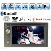 Bluetooth Auxin steering wheel control TF/USB/GPS 7 Languages WIN CE 2018 New 2 DIN Car DVD player 6.5 Touch Screen MP4 MP5