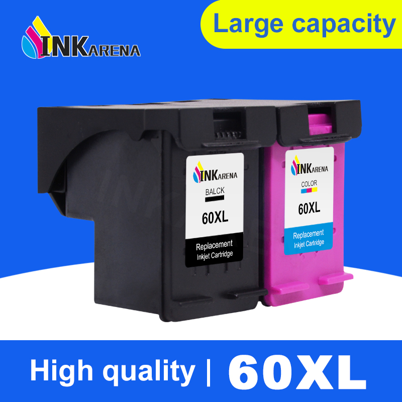 INKARENA Remanufactured Ink Cartridge Replacement for HP 60 60 XL Deskjet F4440 F4480 F4435 4500 F4580 5500 D5560 F2430 Printer