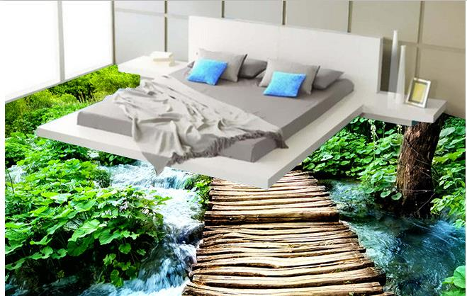 Online buy wholesale river wallpaper from china river for 3d wallpaper for bedroom indian