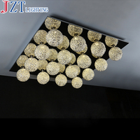 M Modern G4 Led Living Room Rectangular Ceiling Light Warm or Cool White Creative Minimalist Aluminum Bedroom Restaurant Light