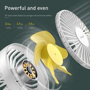 Image 3 - Baseus Mini USB Fan taşınabilir el Ventiladors şarj edilebilir dahili pil 1800mAH kullanışlı hava soğutma fanı açık ev için