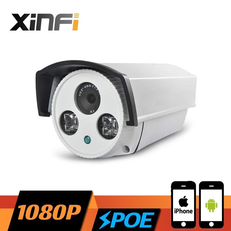 XINFI HD 1080P Surveillance POE Camera 2.0 MP Outdoor Waterproof network CCTV IP camera P2P ONVIF 2.0 PC&Phone remote view цена 2017