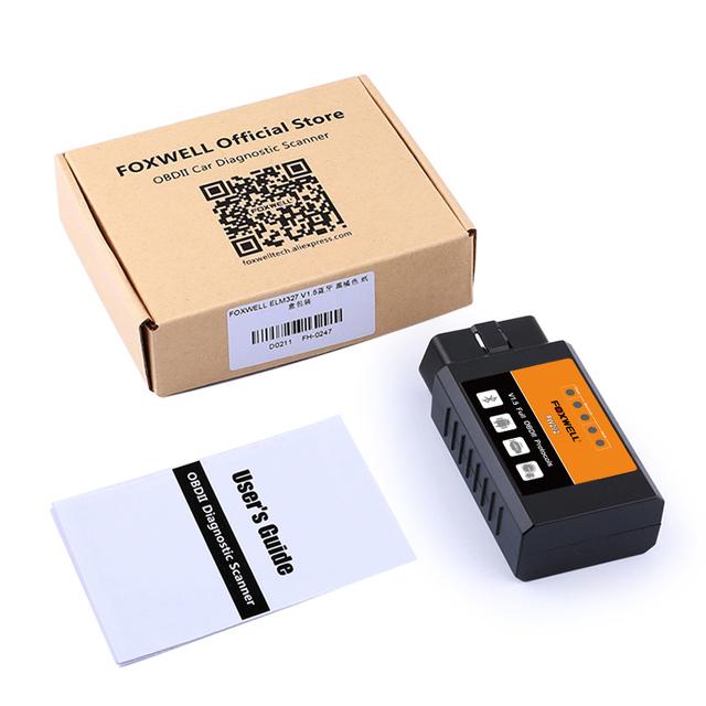 FOXWELL FW202 OBD2 ELM327 Bluetooth V1.5 PIC18F25K80 ODB 2 Car Code Reader Scanner OBDII ODB2 ODB II Scan Tool ELM 327 V 1.5 New