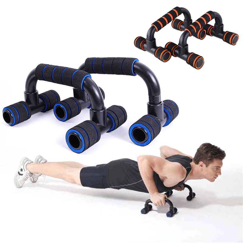 1 Pair Fitness Push <font><b>Up</b></font> Stands Bars Sport Exercise Chest <font><b>Muscle</b></font> Training Bar Sponge Hand Grip Home Gym Trainer Workout Fitness image