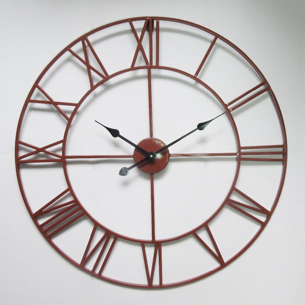 Achetez en gros grand mur de fer horloge en ligne des for Grande horloge murale fer forge