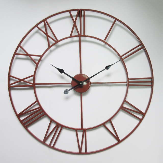 Orologio Ferro Battuto.50 Industriale Vintage Cm Orologio Ferro Arte Classico In