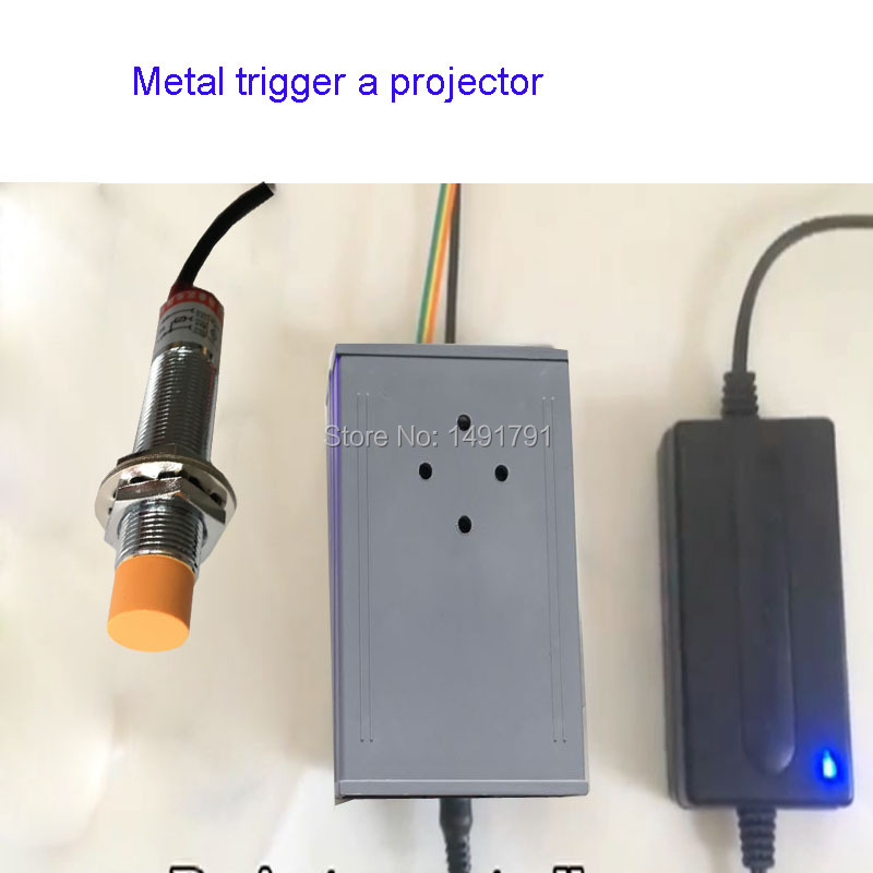 Escape Room Game Magnetic Metal Sensor Triggered Projector Prop Metalic Objector Close To Get Picture Or Number Password Clue Access Control Security & Protection