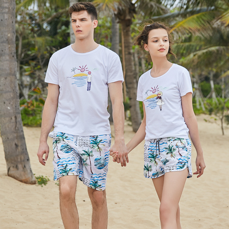 Men Shorts Slim Summer Chiffon Printing Beach Shorts Quick Drying Elastic Waist Board Shorts Men  GX1908