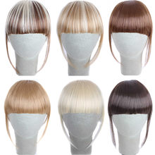 Factory price 1Pcs Pretty Girls Clip On Clip In Front Hair Bang Fringe Hair Extension Piece Wigs Stand May11 HW(China)