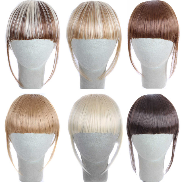 Factory Price 1pcs Pretty Girls Clip On Clip In Front Hair Bang