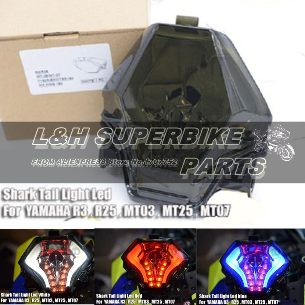 New Arrival Motorcycle LED Turn Signals YZF R3 R25 Taillight For Yamaha MT07 2013 2015 Brake