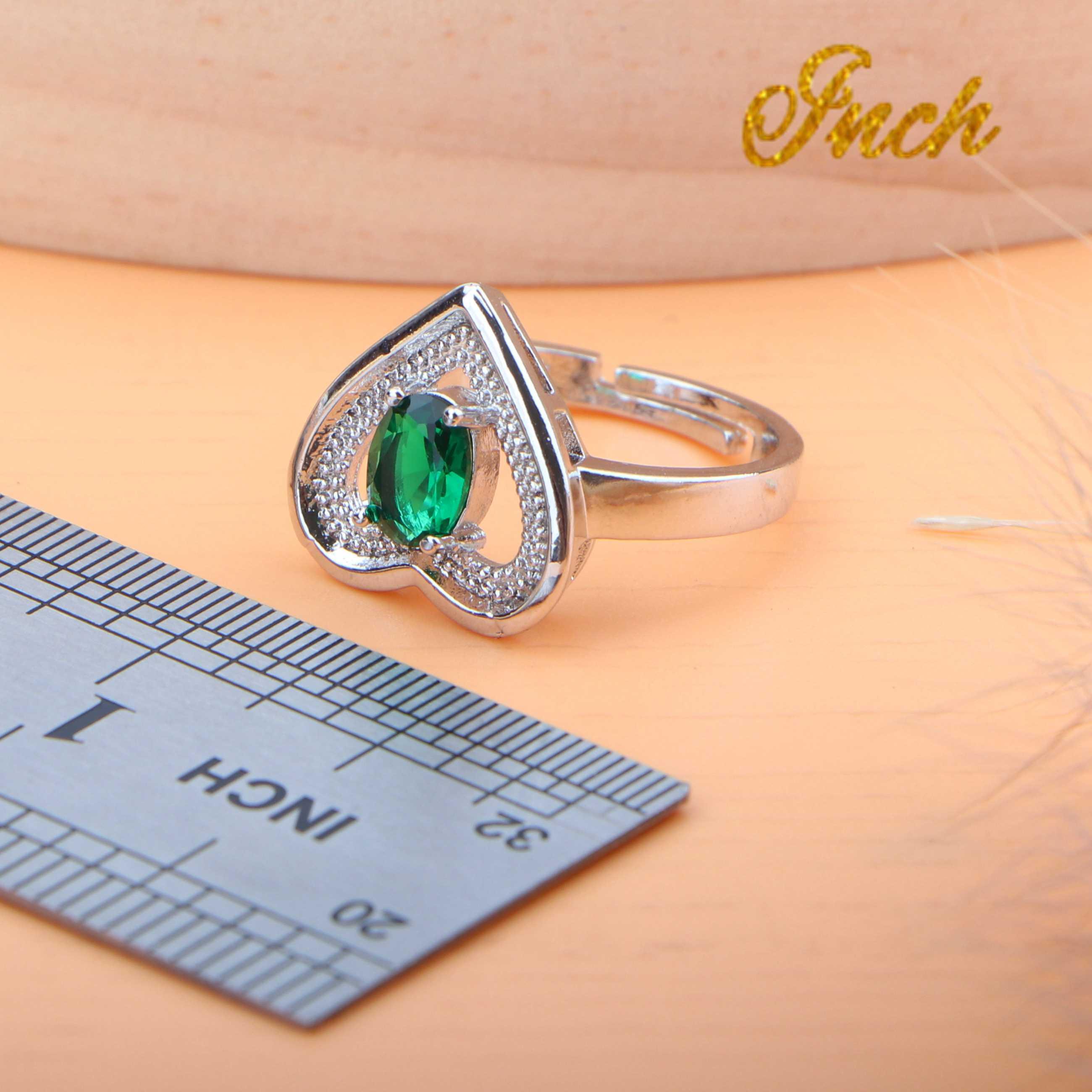 Kobiety Wedding Bridal 925 Sterling Silver Jewelry Sets zielony CZ kolczyki kostium biżuteria bransoletka pierścień naszyjnik zestaw pudełko