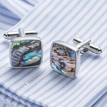 Top Copper + Natural Abalone Shell Mens Cufflinks Luxury Wedding Shirt Cuff Buttons Handmade Cufflings Groom Gifts Z562
