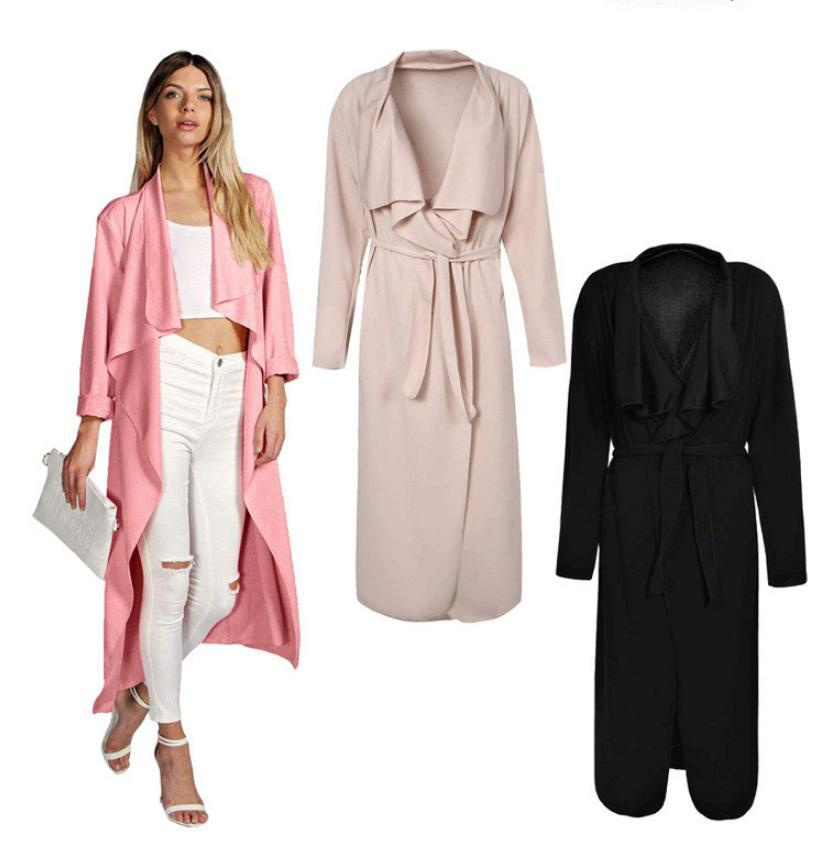 Aliexpress.com : Buy Women black pink long vest coat sleeveless ...