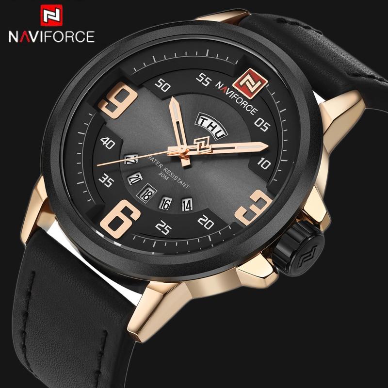 f981fc7abde764 2017 Mens Montres NAVIFORCE Marque De Luxe Casual Militaire Quartz Sport  Homme Horloge montre de Plongée relogio masculino Montre Homme