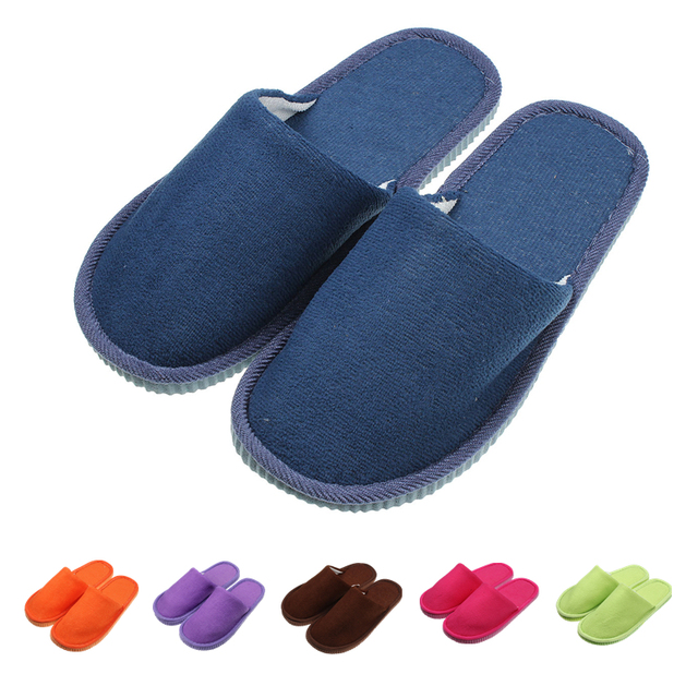 House Slippers Home Indoor Occupy The Home Winter Men Women Soft
