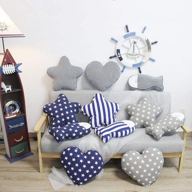 45 Cm Mediterranen Stil Sternherzfisch Kissen Kissen Sofa
