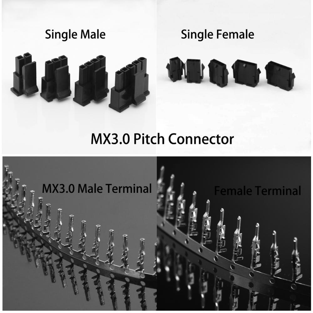 30 Set Molex 3.0 Mm Connector 43645/43640 Single Row Male/Female Housing+ Terminals 2/3/4/5/6 Pin