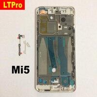 LTPro TOP Quality Black Silver Front Bezel Middle Frame Housing Cover For Xiaomi Mi5 M5 Mi