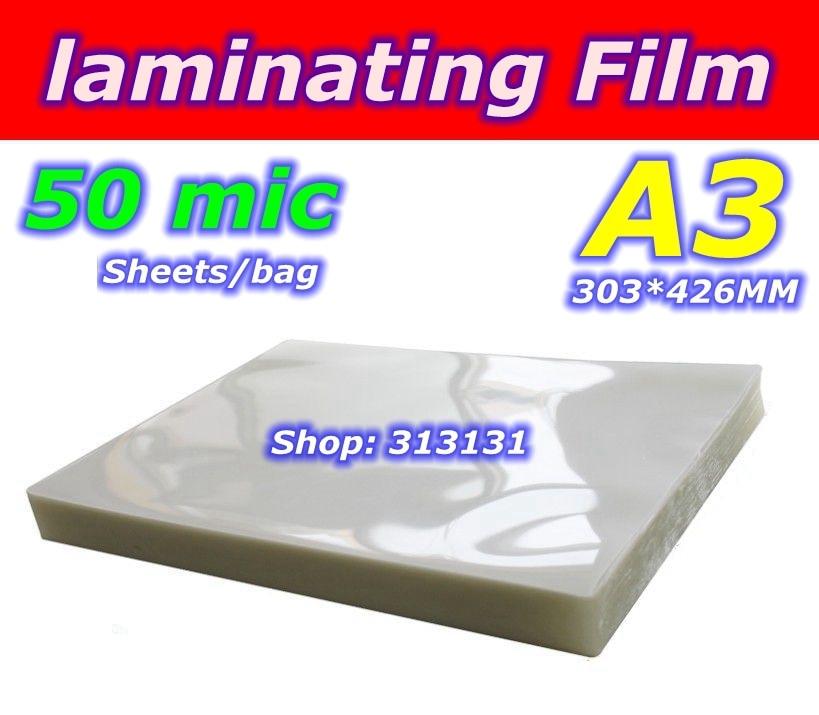 50mic A3 size Laminator laminating film pvc a3 size pouch laminator film photo laminating machine