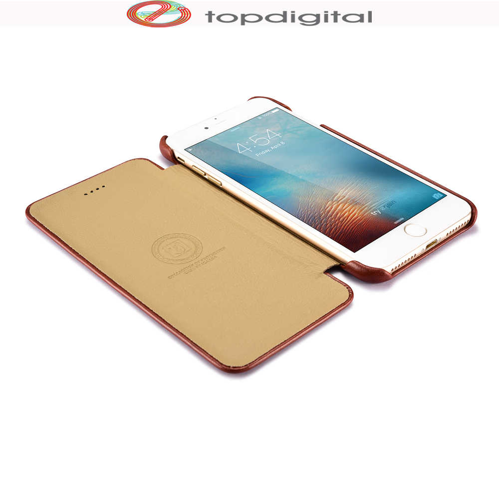 Icarer iphone 8 ケース本革財布ケース iphone 7 プラス iPhone 6 6s 8 プラス曲線エッジフリップフォリオ磁気カバー