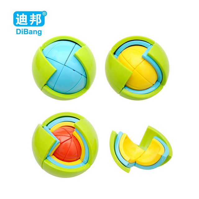 Fun Creative Spherical Magic Cube Speed Rainbow Ball Football Puzzles Kids Educational Learning Toys for Children Adult Gifts