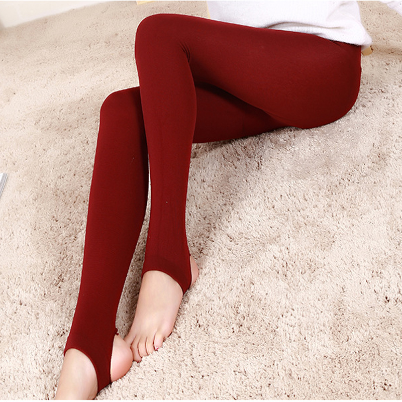 2pcs Autumn Winter Womens Pantyhose Stocking Ladies Girls Step On The Foot Tights Polyester Stocking Tights Collant Slim Pants