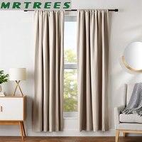 Mrtrees moderno cortinas blackout para sala de estar quarto tratamento janela cortinas blackout sólido terminado painel