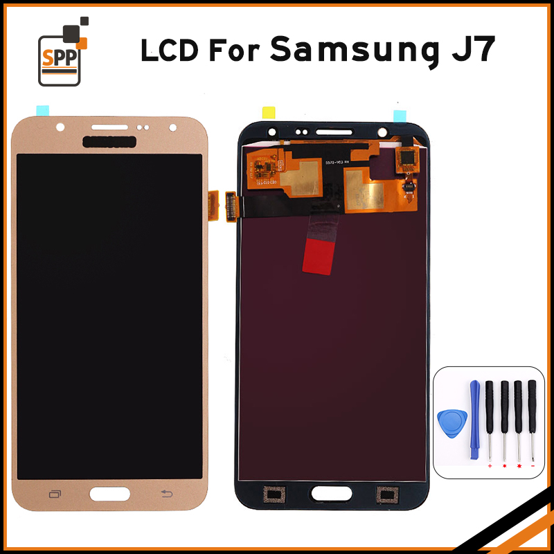 LCD display replacement for Samsung Galaxy J7 2015 J700 SM-J700F J700M J700H/DS touch digitizer lcd screen assembly repair+tools brand new tested lcd display touch screen digitizer assembly for samaung galaxy e5 e500f h hq m f h ds replacement parts