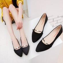 b961a5980 2018 Novas Mulheres Camurça Apartamentos sapatos Da Moda das Mulheres de  Alta Qualidade de Camurça Cor