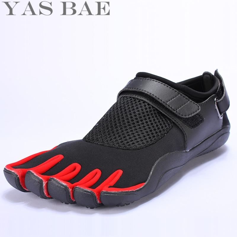 Suuri koko 45 44 Myynti Yas Bae Design kumi viiden sormella Ulkoinen liukukestävä hengittävä hengittävä Kevyt tennarit Miesten kenkä