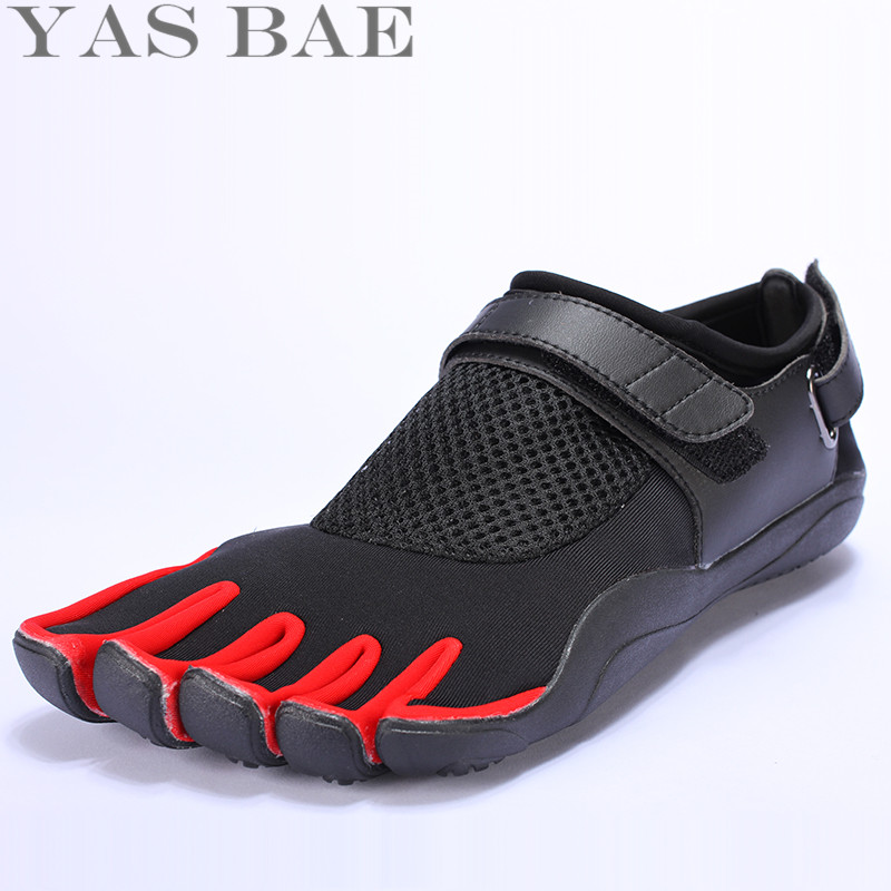 Big Size 45 44 Sale Yas Bae Design Rubber with Five Fingers <font><b>Outdoor</b></font> Slip Resistant Breathable Light weight sneakers <font><b>Shoe</b></font> for Men