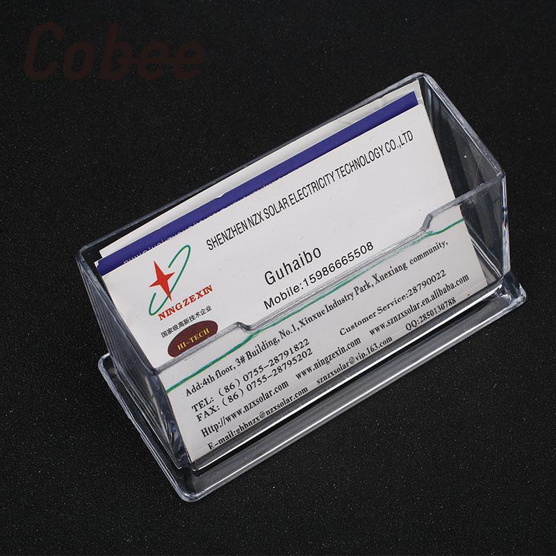 Cobee Transparent Clear Plastic Business Card Holder Desktop Counter ...