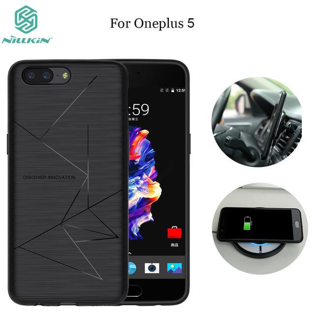 separation shoes 22232 7127e US $16.66 40% OFF|Nillkin Oneplus 5 Qi Wireless Charging Receiver Case For  One plus 5 A5000 Back Cover Compatible Magnetic Phone bags oneplus 5-in ...