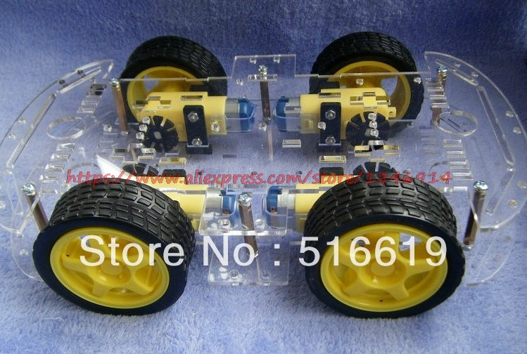 Free Shipping  Smart Car Chassis/tracing Car/robot/take Encoder/speed/strong Magneto/ZK-4wd