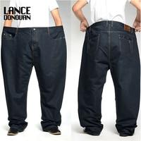 PlusSize 46 48 50 52 2014 New Men S Casual Fashion Business Classic Man Jeans Dark