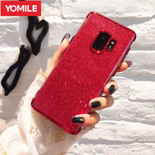 YOMILE Shining Glitter Telefonu samsung kılıfı Galaxy A3 A5 A6 A7 2016 2017 A8 Artı 2018 A9 Yıldız Lite Kaplama Yumuşak TPU arka...