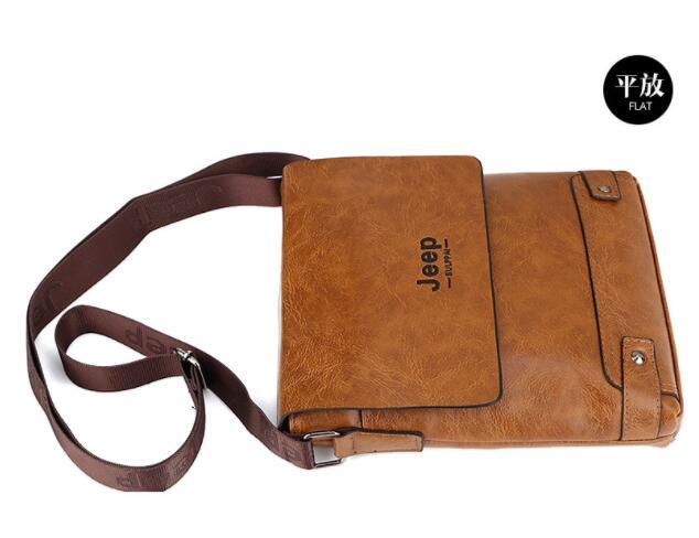 HTB1 A4uaFT7gK0jSZFpq6yTkpXaD 2019 New Jeep Men's Bag Business Bag Men's Shoulder Messenger Bag Jeep Leather Casual Bag