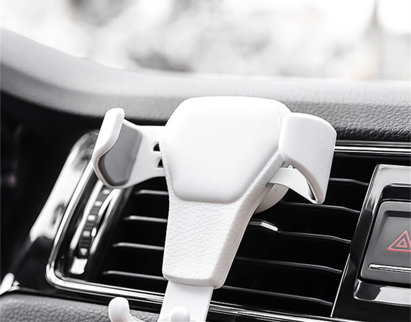 HTB1 A52q9MmBKNjSZTEq6ysKpXaj - Car Phone Holder For Phone In Car Air Vent Mount Stand No Magnetic Mobile Phone Holder Universal Gravity Smartphone Cell Support