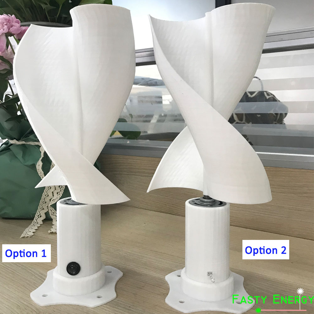10w dc micro motor 30cm luzes led eixo vertical turbina eolica gerador de laminas conjunto completo
