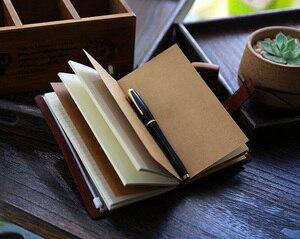 Image 5 - Skórzany dziennik, wykonane na zamówienie, rocznika wielokrotnego napełniania dziennik podróży, skóra notebooka podróżnika