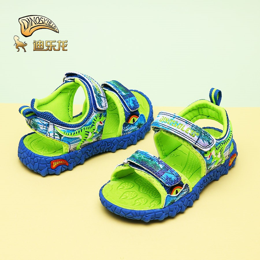 DINOSKULLS Sandals Boys Beach Shoes Child Summer Leather Shoes Open Toe Light Shoes Little Kids Sandals Dinosaur Design 27#-34#DINOSKULLS Sandals Boys Beach Shoes Child Summer Leather Shoes Open Toe Light Shoes Little Kids Sandals Dinosaur Design 27#-34#