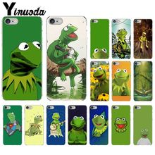 Yinuoda Kermit the frog Transparent TPU Soft Silicone Phone Cover for Apple iPhone 8 7 6 6S Plus X XS MAX 5 5S SE XR Cellphones yinuoda cat ar ariana grande soft silicone tpu phone cover for apple iphone 8 7 6 6s plus x xs max 5 5s se xr cellphones
