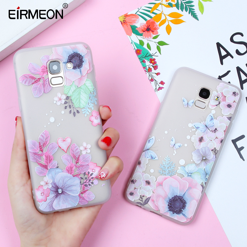 EIRMEON For Samsung <font><b>Galaxy</b></font> S8 Case S7 Edge S9 Plus A5 2017 TPU Case For J2 J3 J5 J7 A3 A5 A7 2016 A8 A6 Plus J6 J4 <font><b>2018</b></font> Covers image