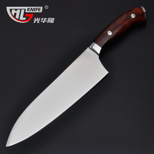8 inch VG10 Knife Chef Knife Japanese Stainless Steel VG-10 Sharp Kitchen Knives with Shiny Wood handle free shipping