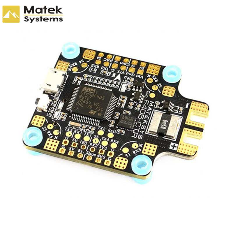 купить Original Matek Systems BetaFlight F405-CTR Flight Controller Built-in PDB OSD 5V/2A BEC Current Sensor For RC Models по цене 2022.25 рублей