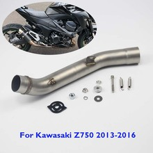 Z800 Motorcycle Exhaust Pipe Slip on Muffler Exhaust Connecting Link Tube Modified Linking Mid Pipe for Kawasaki Z800 2013-2016
