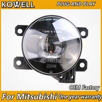 KOWELL Car Styling OEM Fog Lamp for Mitsubishi Outlander Pajero Grandis ASX L200 Triton LED Fog Light Auto LED DRL model